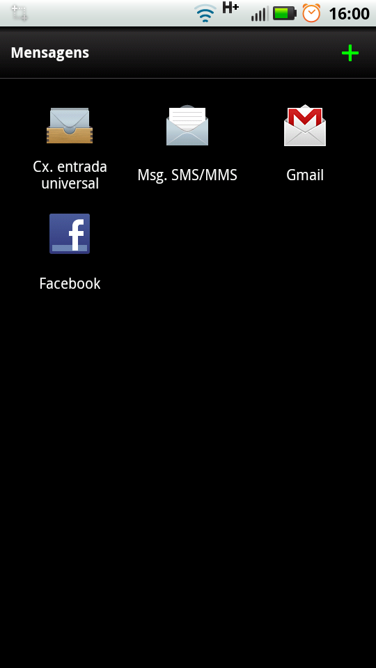 MotoBlur - Caixa de Mensagens.