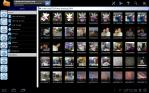 Astro File Manager exibindo algumas fotos disponíveis no HD.